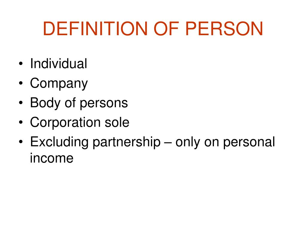 DEFINITION OF PERSON