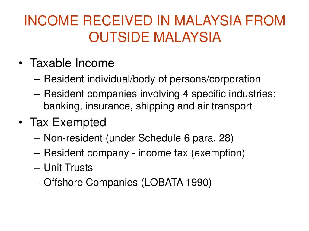 INCOME RECEIVED IN MALAYSIA FROM OUTSIDE MALAYSIA