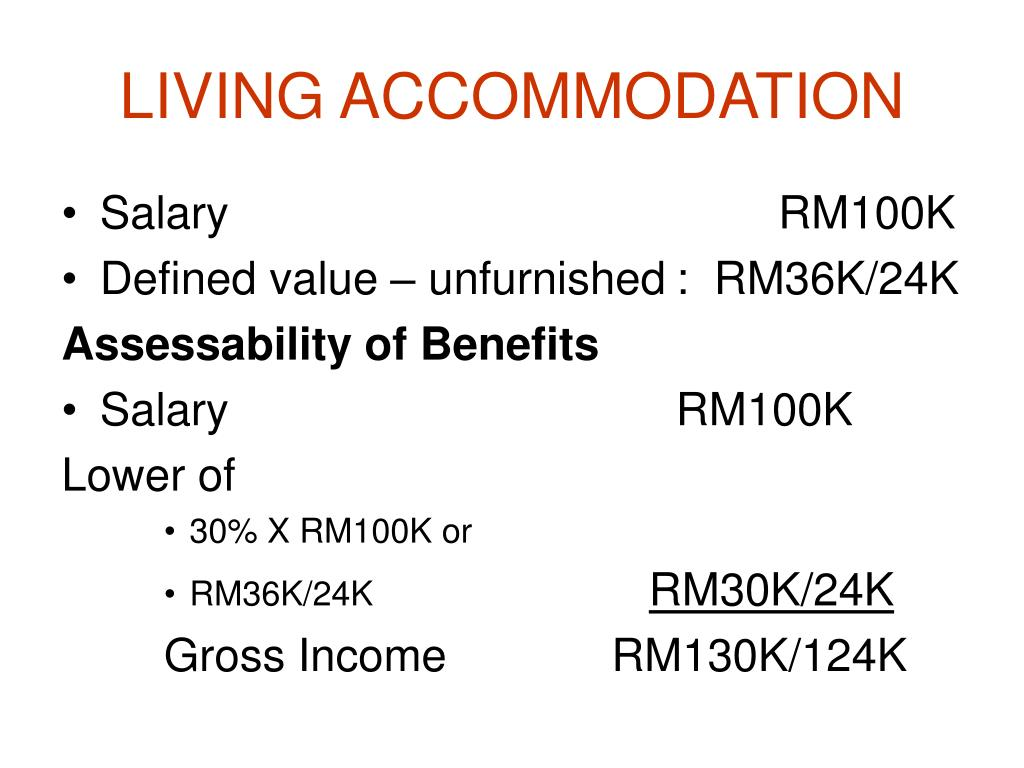 LIVING ACCOMMODATION