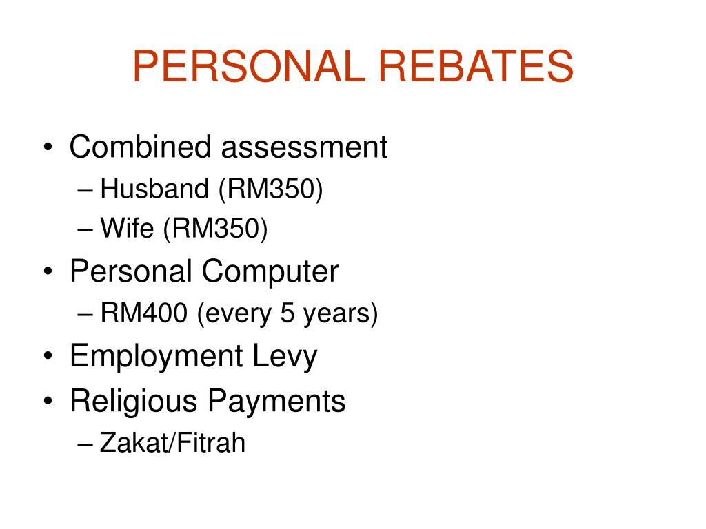PERSONAL REBATES