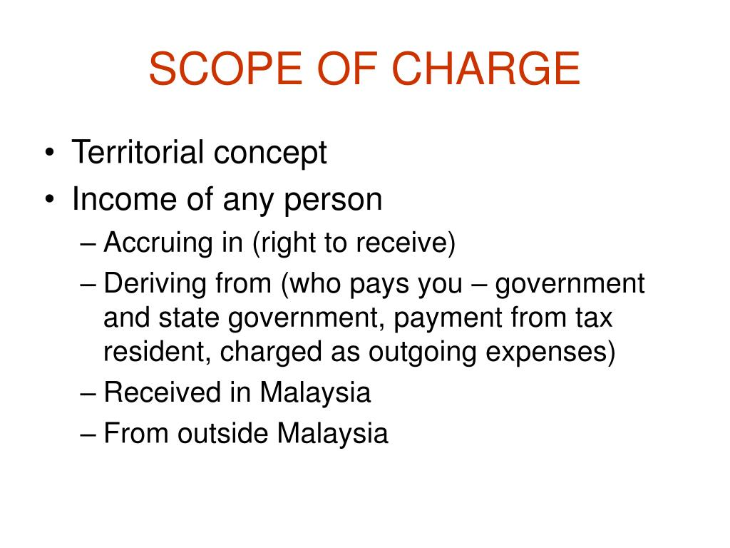 SCOPE OF CHARGE