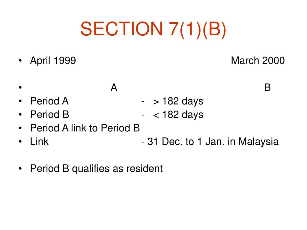 SECTION 7(1)(B)