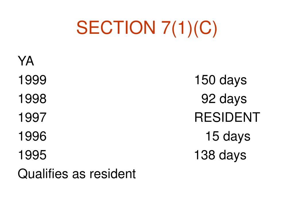 SECTION 7(1)(C)