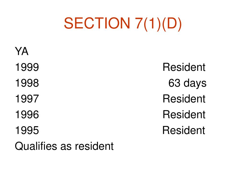 SECTION 7(1)(D)