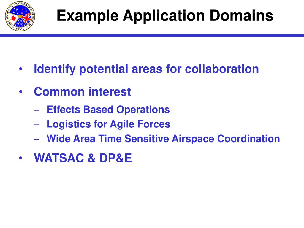 Example Application Domains