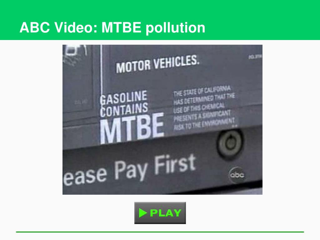 ABC Video: MTBE pollution