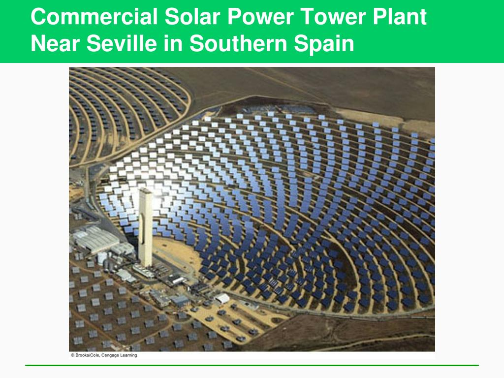 Commercial Solar Power Tower Plant Near Seville in Southern Spain