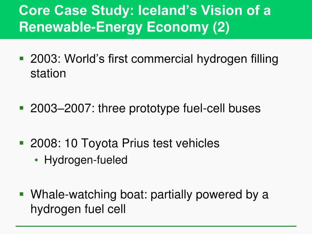 Core Case Study: Iceland's Vision of a Renewable-Energy Economy (2)