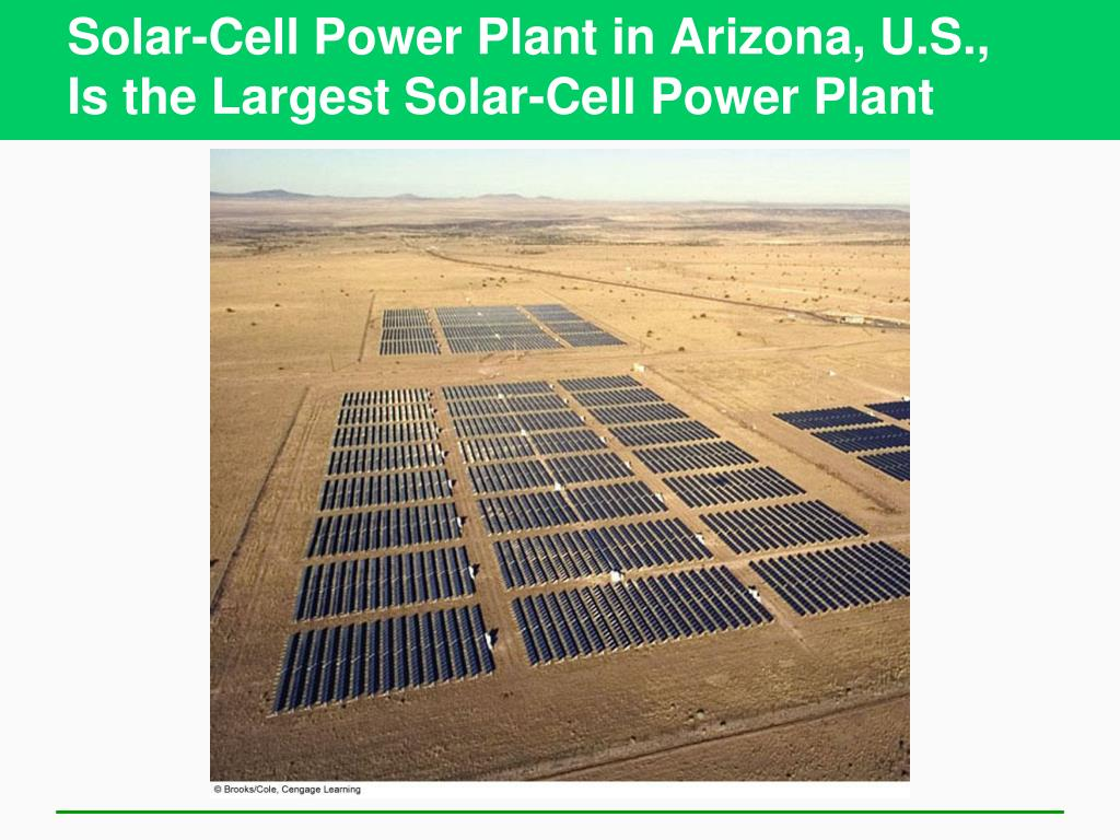 Solar-Cell Power Plant in Arizona, U.S.,