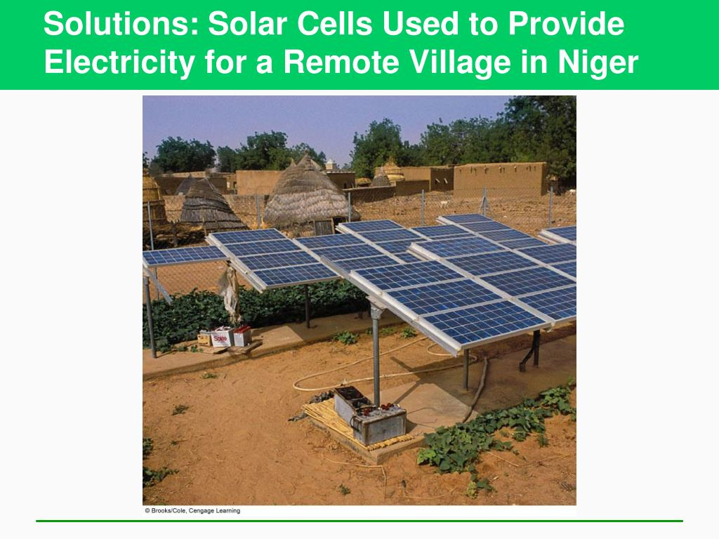 Solutions: Solar Cells Used to Provide Electricity for a Remote Village in Niger