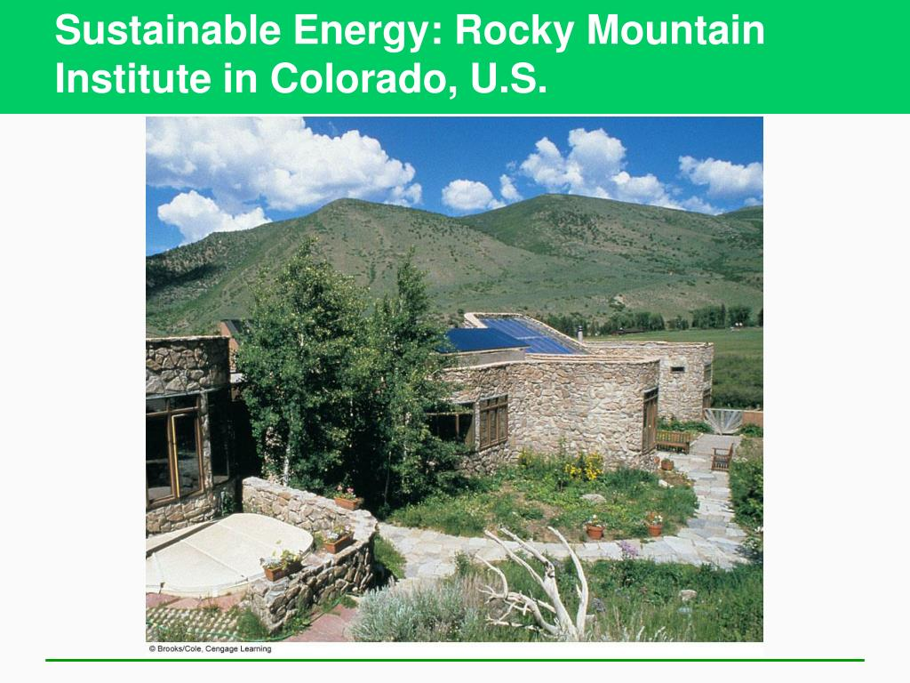Sustainable Energy: Rocky Mountain Institute in Colorado, U.S.