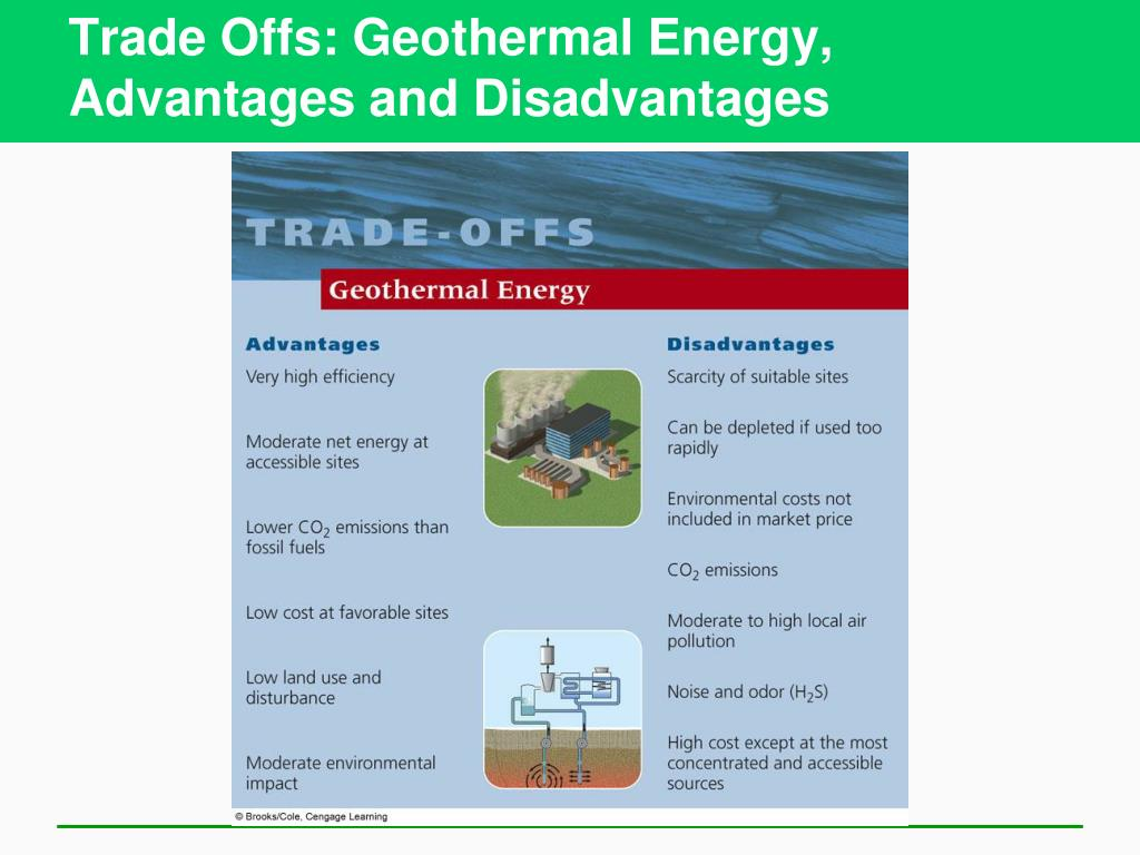 Trade Offs: Geothermal Energy,  Advantages and Disadvantages
