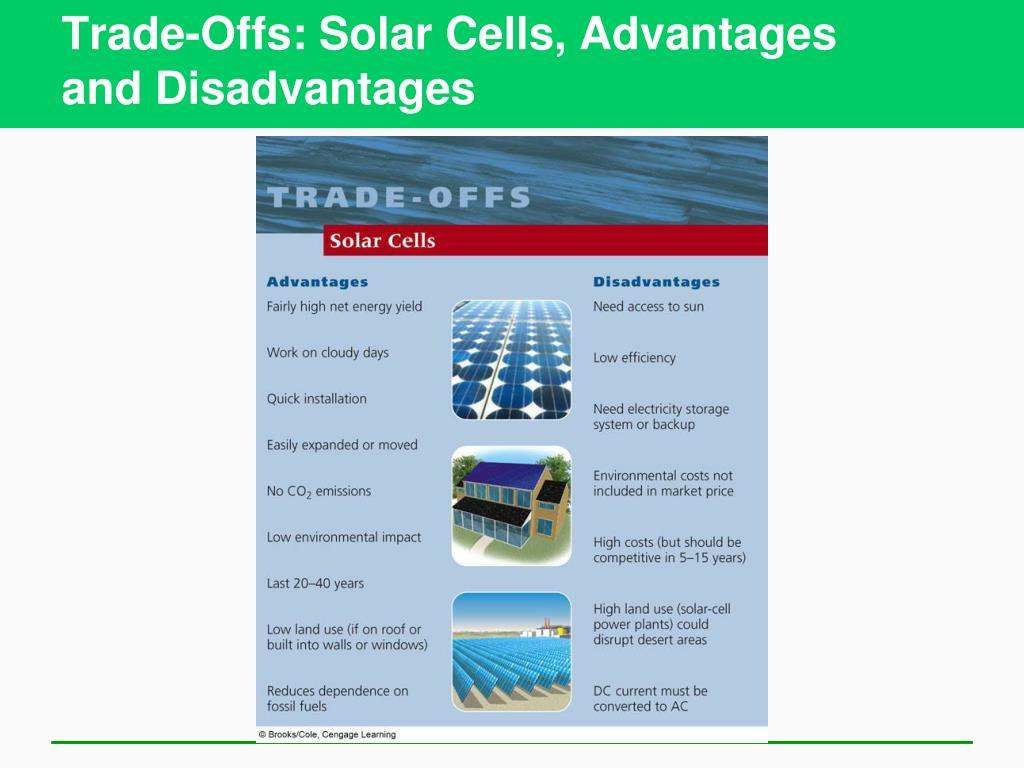 Trade-Offs: Solar Cells, Advantages
