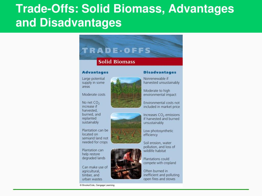 Trade-Offs: Solid Biomass, Advantages and Disadvantages