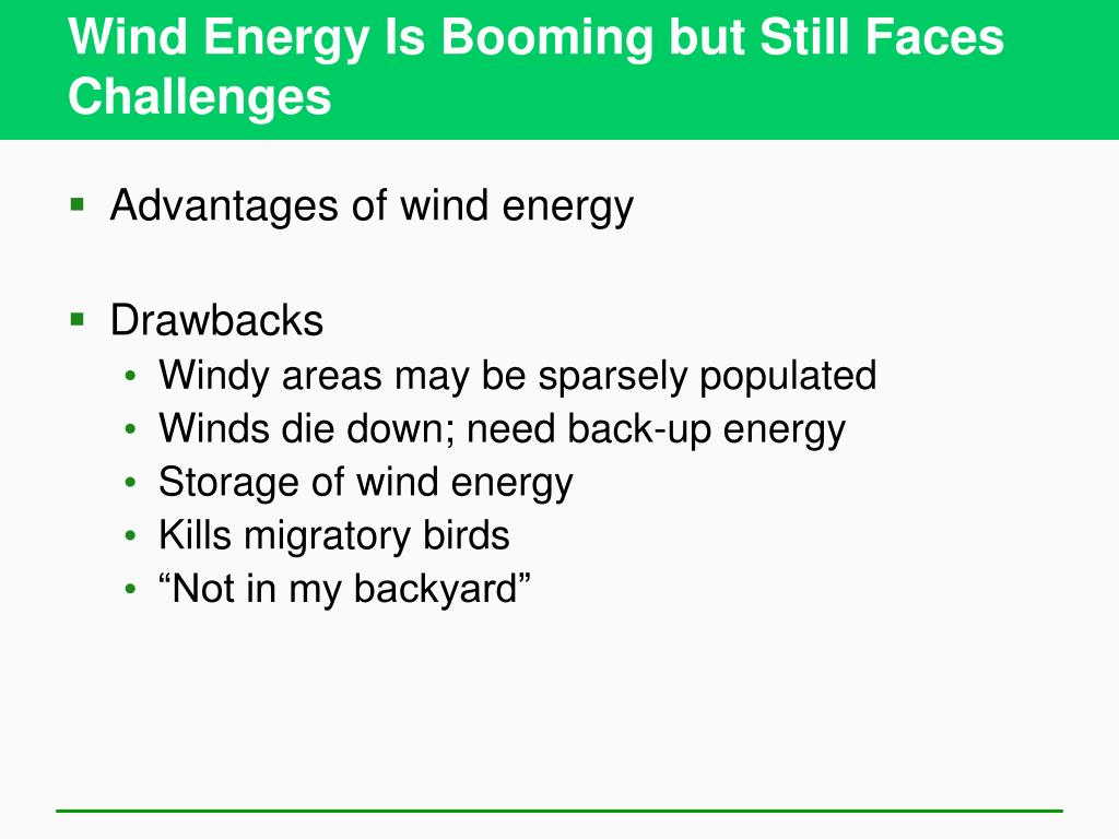 Wind Energy Is Booming but Still Faces Challenges