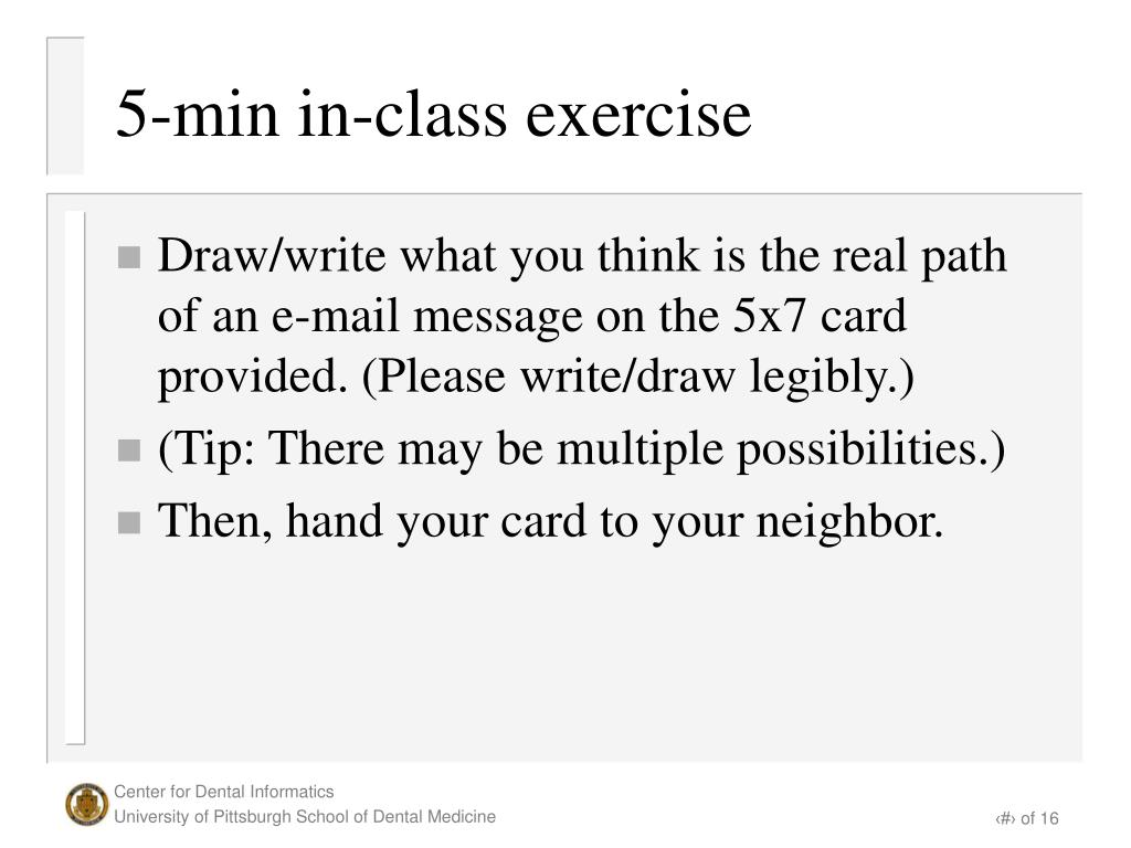 5-min in-class exercise
