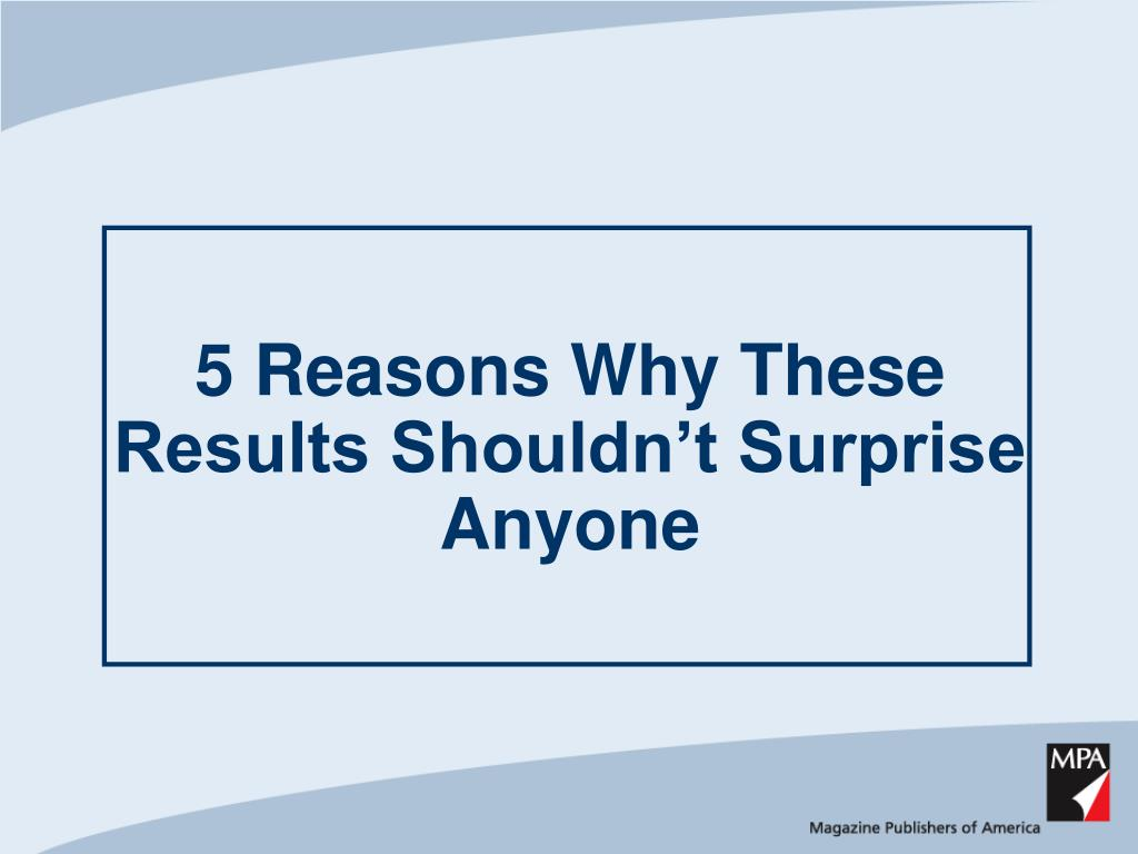 5 Reasons Why These