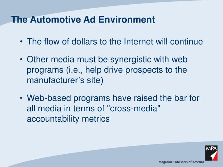 The automotive ad environment