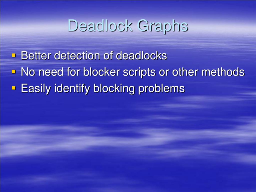 Deadlock Graphs