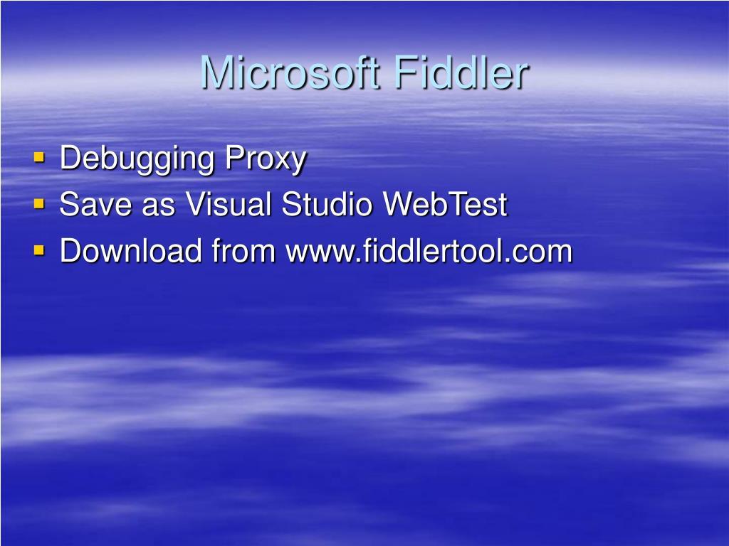 Microsoft Fiddler