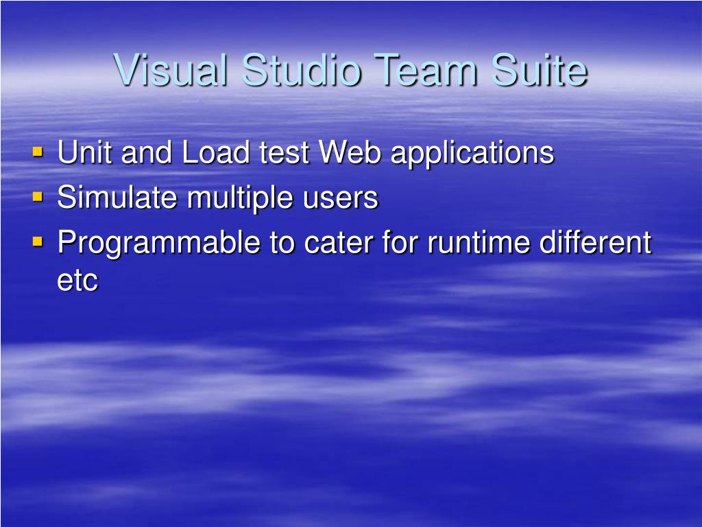 Visual Studio Team Suite