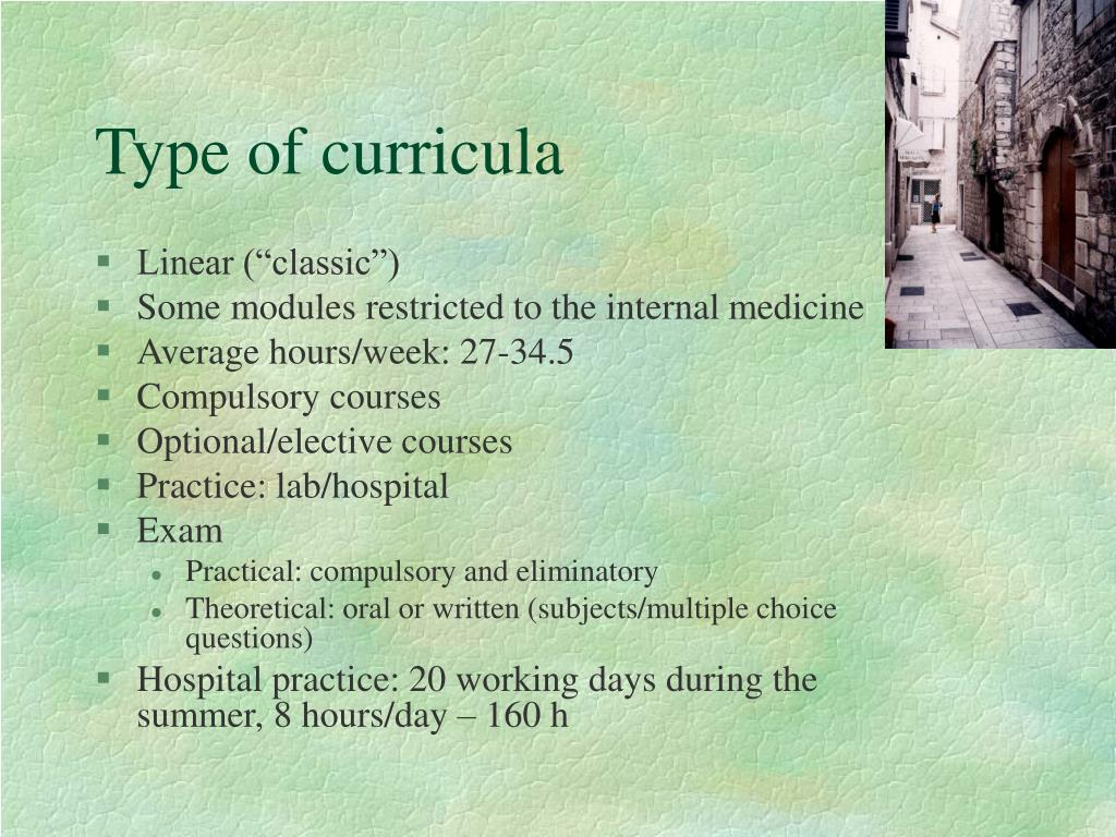 Type of curricula
