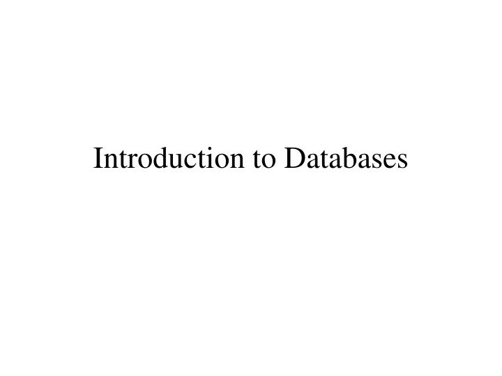 Introduction to databases l.jpg