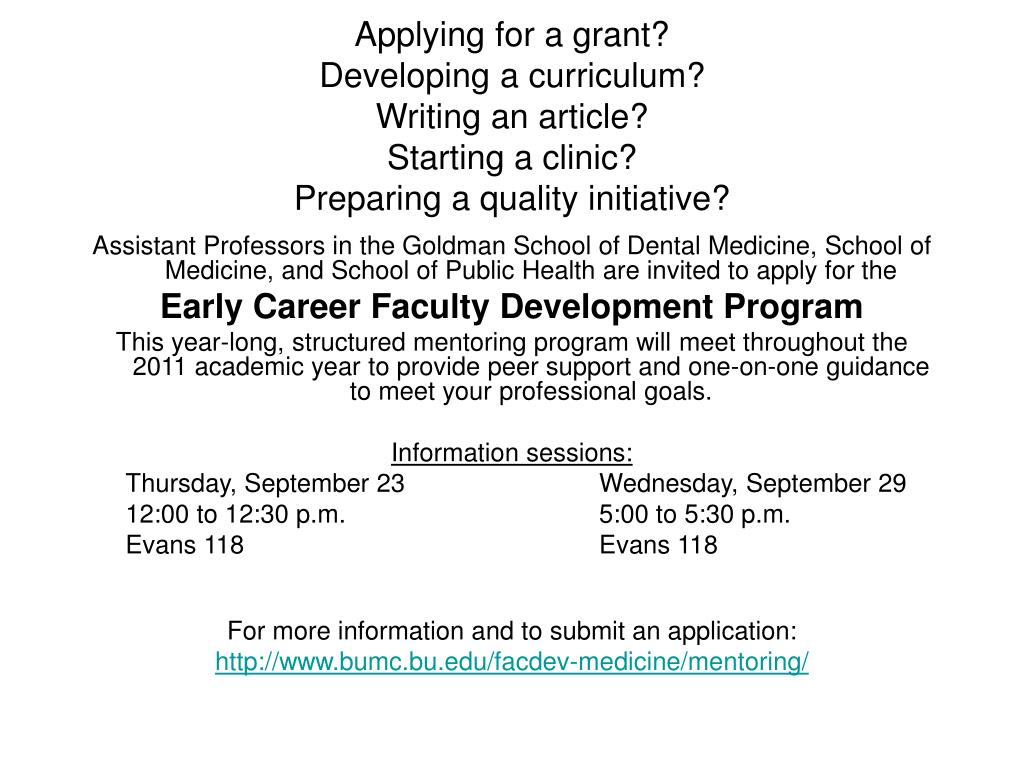 Applying for a grant?
