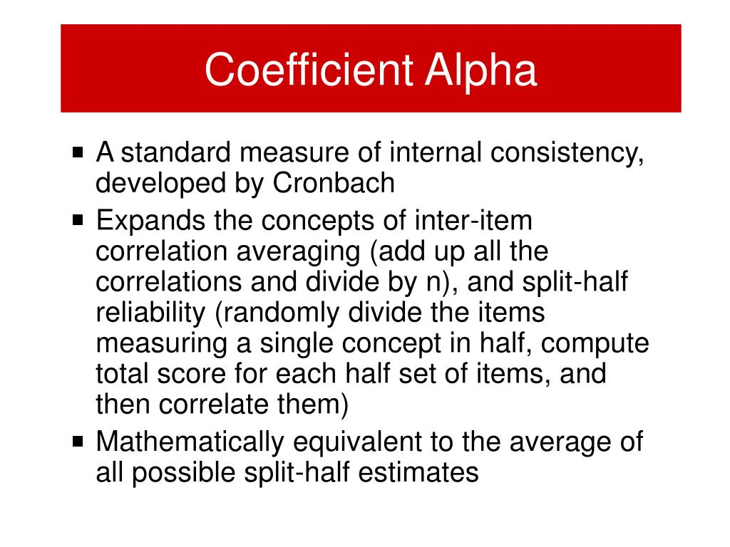 Coefficient Alpha