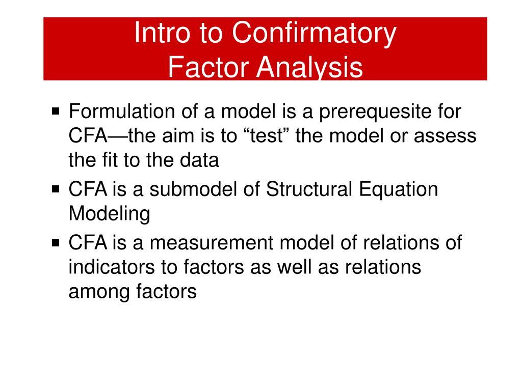 Intro to Confirmatory