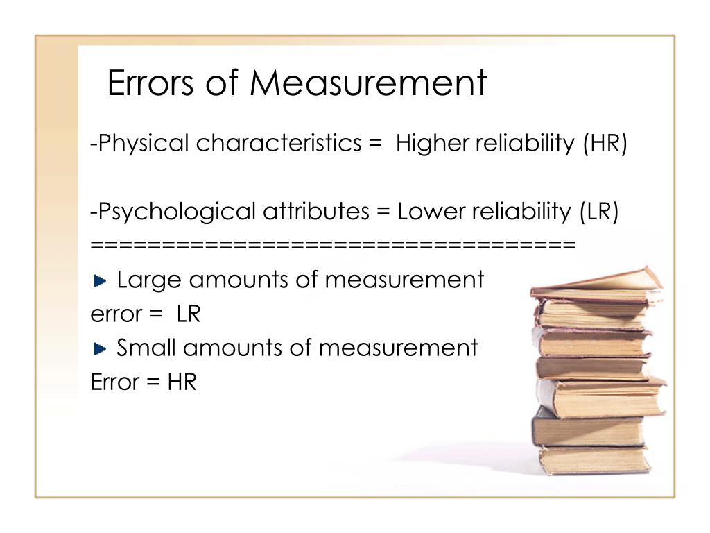 Errors of Measurement