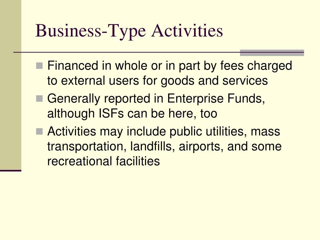 Business-Type Activities