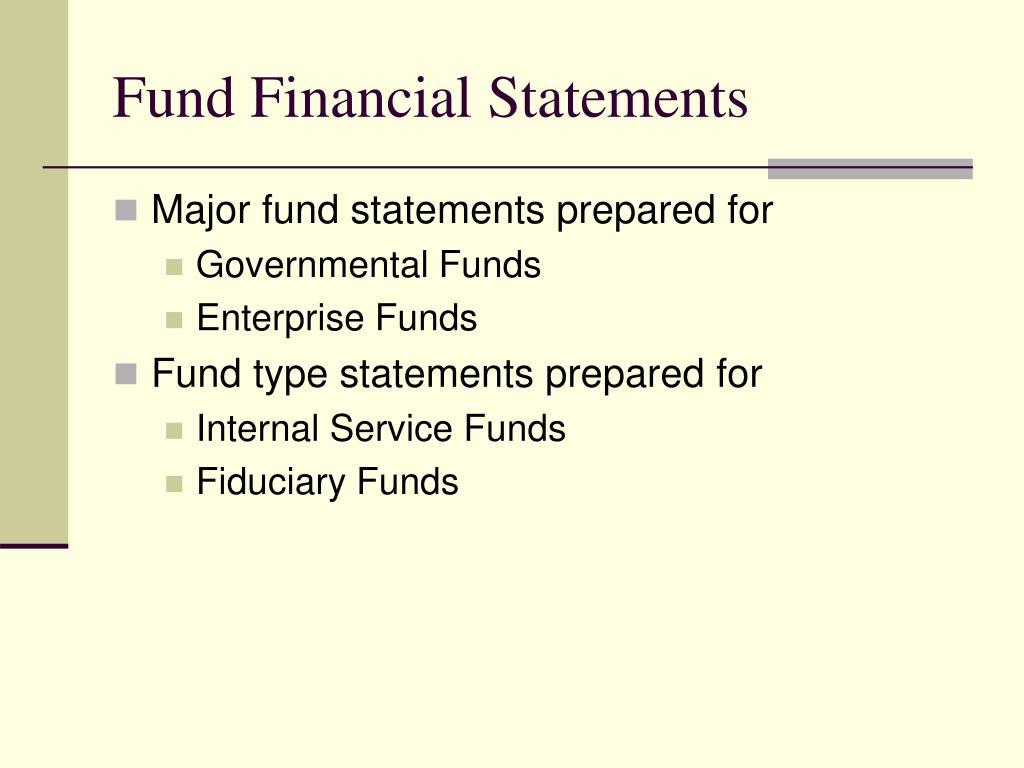 Fund Financial Statements