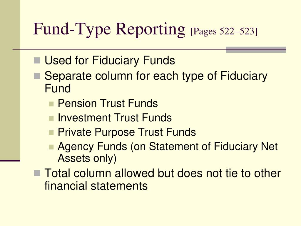 Fund-Type Reporting