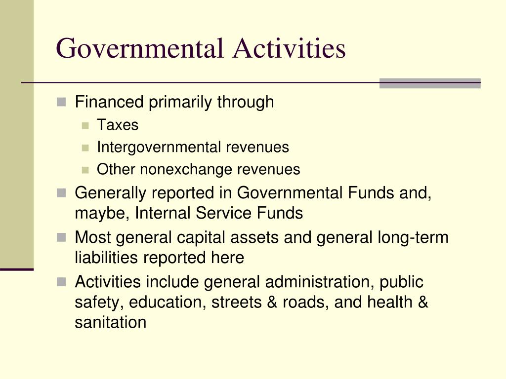 Governmental Activities