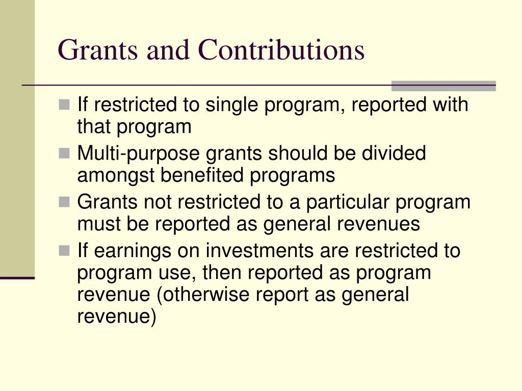 Grants and Contributions