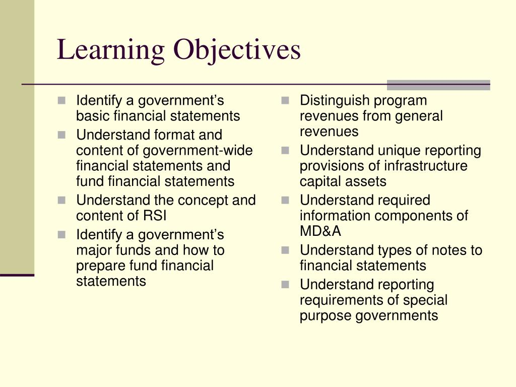 Identify a government's basic financial statements