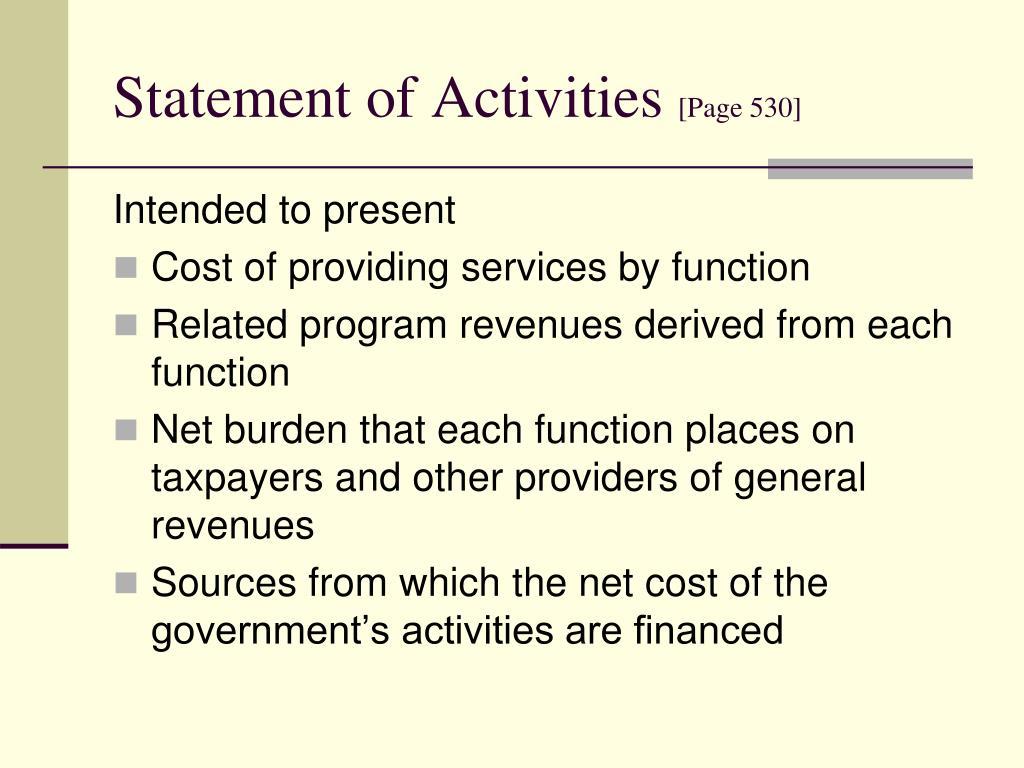 Statement of Activities