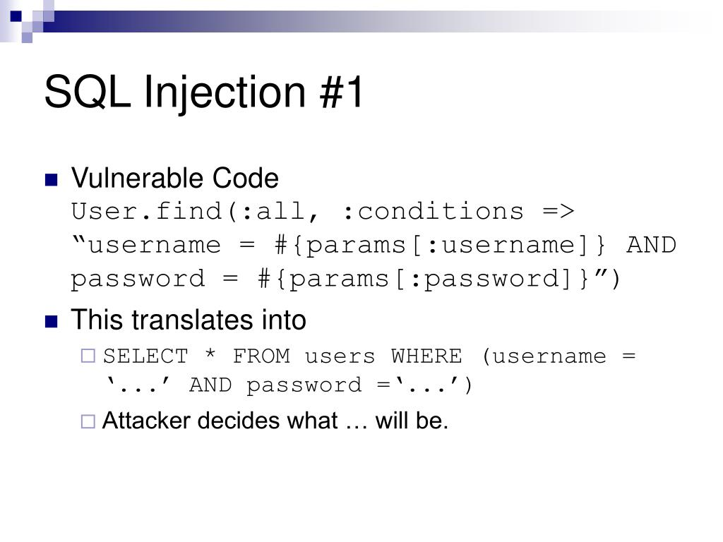 SQL Injection #1