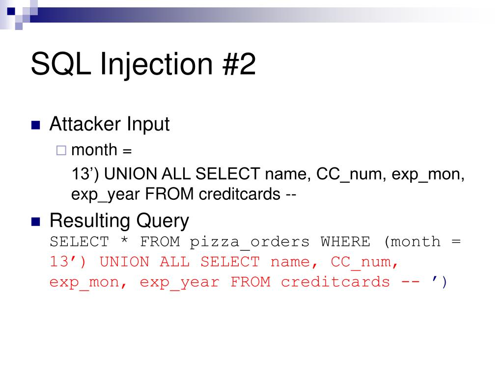 SQL Injection #2