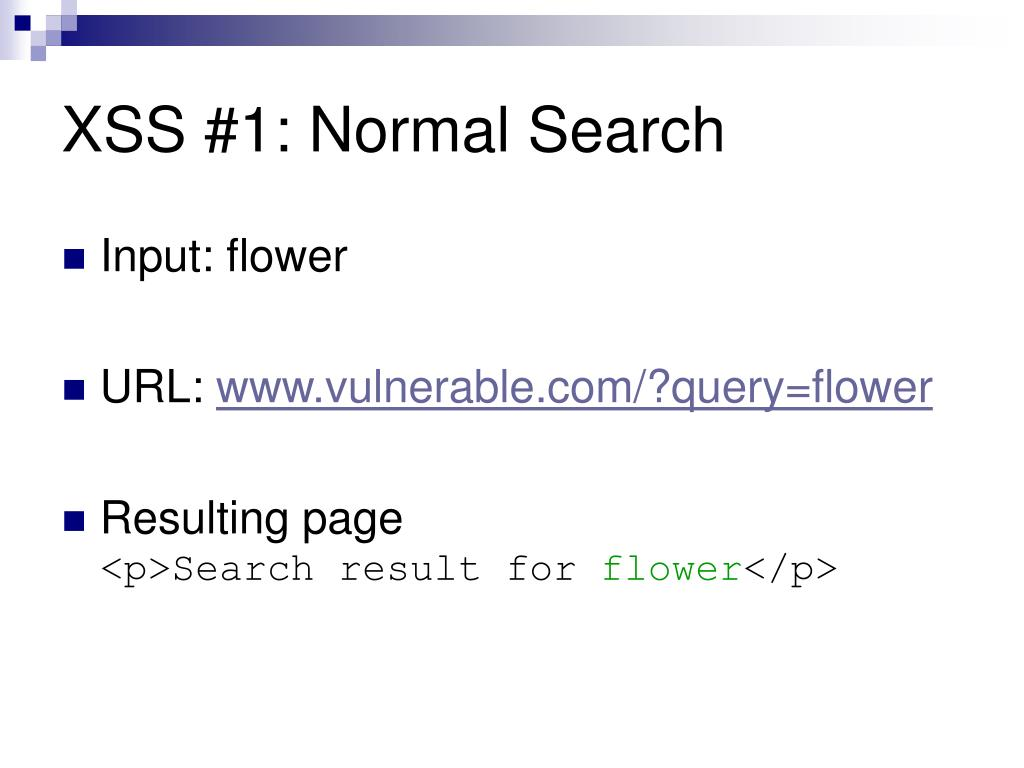 XSS #1: Normal Search