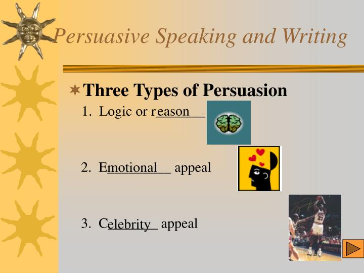 Persuasive speaking and writing2 l.jpg