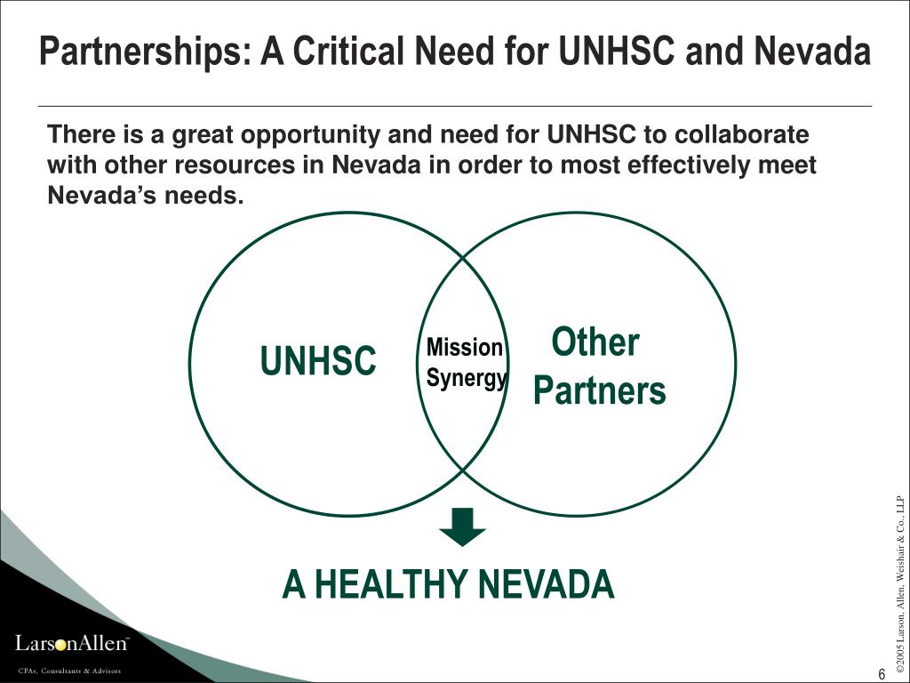 Partnerships: A Critical Need for UNHSC and Nevada
