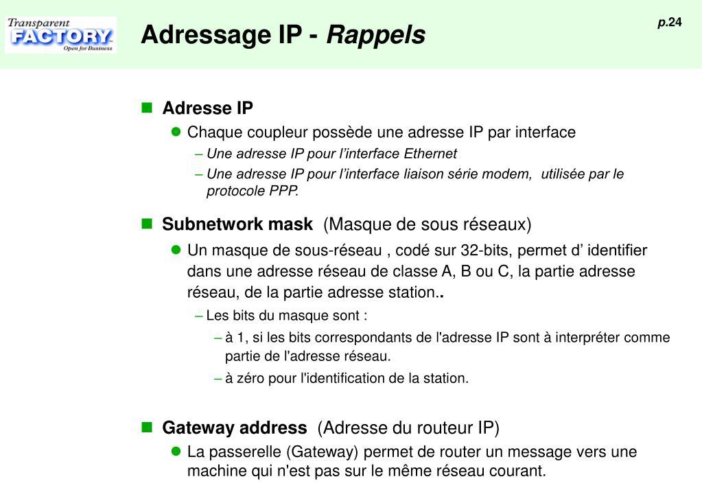 Adressage IP -