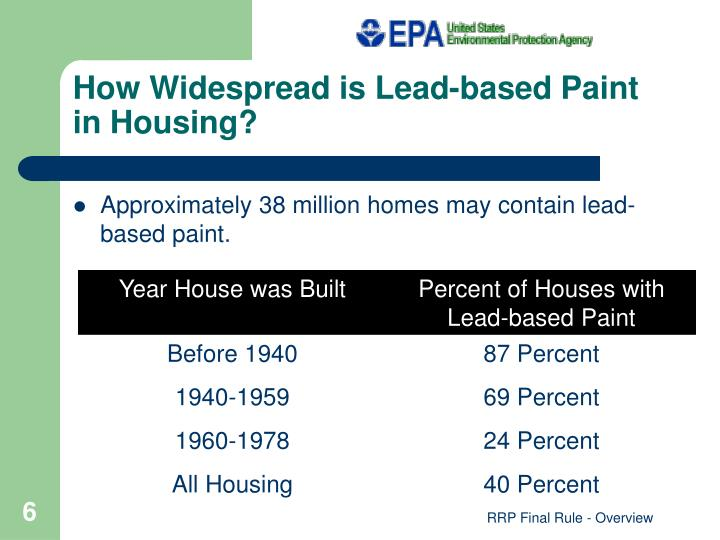 Ppt Epa S New Requirements For Residential Contractors