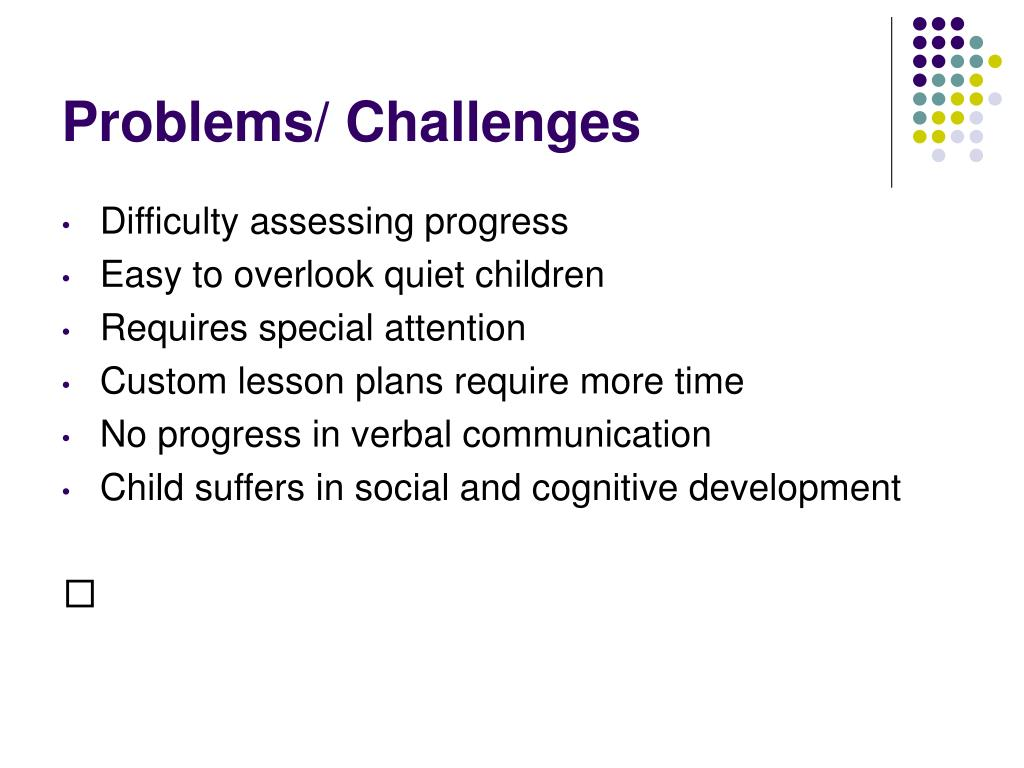 Problems/ Challenges