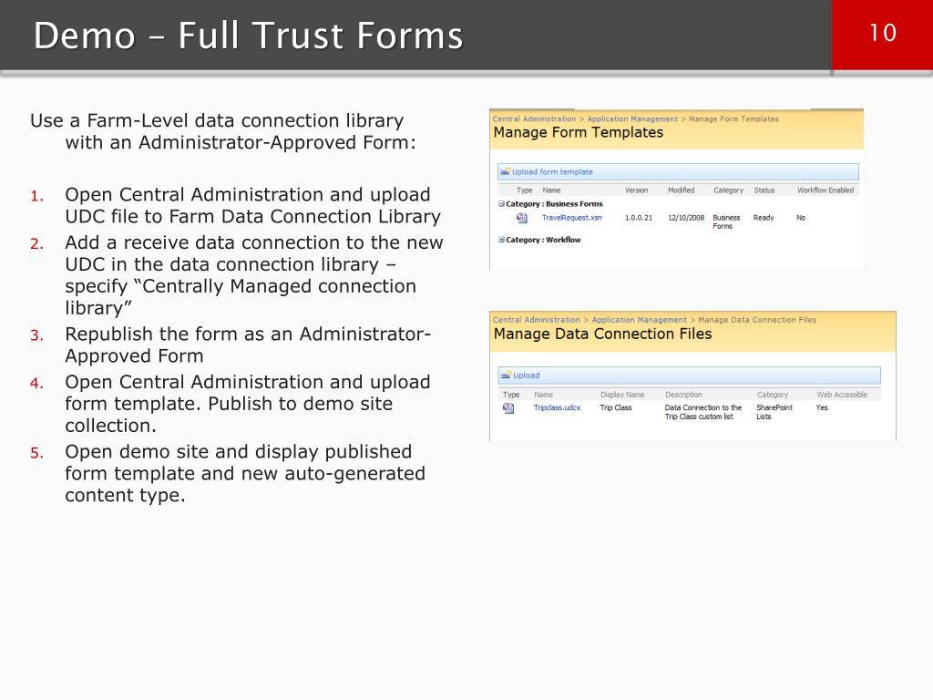 Demo – Full Trust Forms