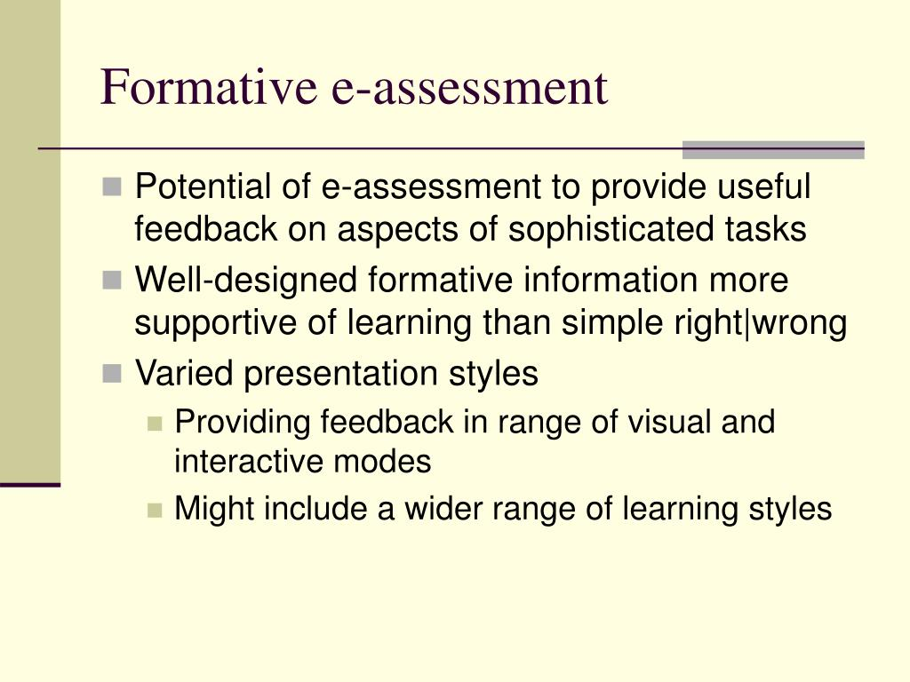 Formative e-assessment