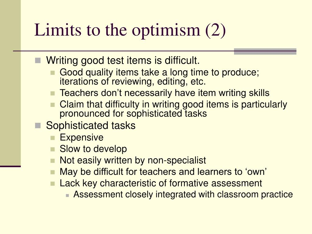 Limits to the optimism (2)