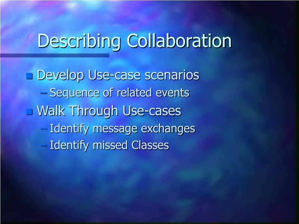 Describing Collaboration